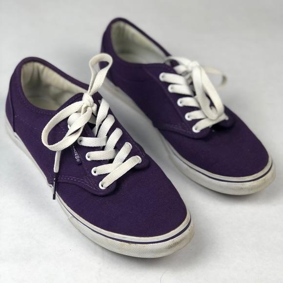 f38dbd2946 VANS Purple Classic Canvas Low Top Sneakers. M 5a67f8595512fd9cb47516a0